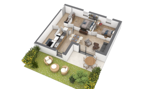 appartement A001 de type T3