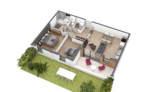 appartement A003 de type T3