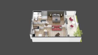 appartement A008 de type T2
