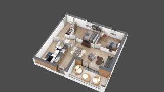 appartement A201 de type T3