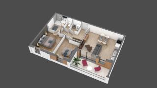 appartement A203 de type T3
