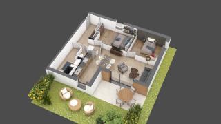 appartement B001 de type T3