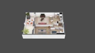 appartement B106 de type T2