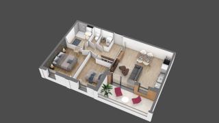 appartement B203 de type T3