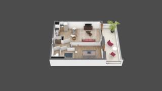 appartement B208 de type T2